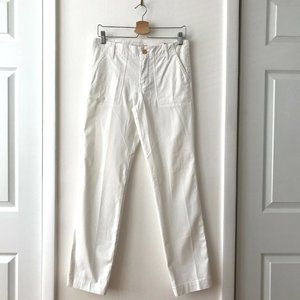 Tory Burch Fatigue Chino Pants in White Size 27